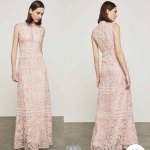 BCBGMAXZRIA GOWN evening blush lace dress